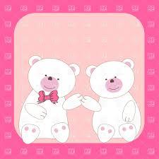 cute teddy bears couple vector image 21543 u2013 rfclipart