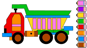 monster truck coloring page drawing truck learn colours for