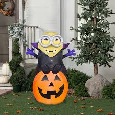 pumpkin decoration images amazon com halloween inflatable 5 vampire minion bob on pumpkin