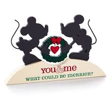 mickey mouse minnie mouse silhouette plaque hallmark