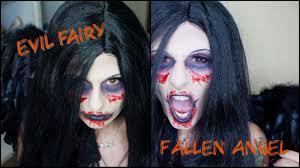 halloween makeup tutorial evil fairy fallen angel youtube