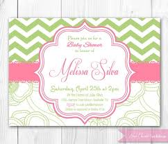 pink and green baby shower invitations wblqual
