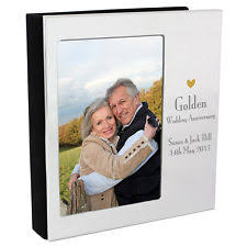 50th anniversary photo album golden wedding photo album ebay
