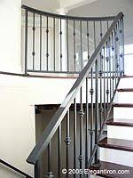wrought iron and wood staircase house ideas wood