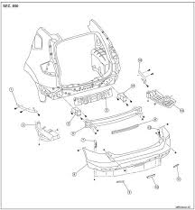 nissan rogue service manual rear bumper removal and