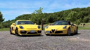 porsche coupe 2016 comparison 2016 porsche cayman vs 2016 alfa romeo 4c