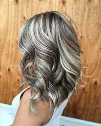 platinum hairstyles with some brown platinum blonde highlights with dark chocolate brown low lights