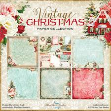 vintage christmas paper blue fern vintage christmas collection 12 x 12 scrapbook