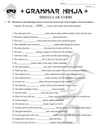 irregular verbs worksheets for 3rd grade irregular verb