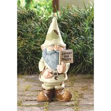 Gnome Garden Decor Support Our Troops Garden Gnome All Decked Out In His Desert