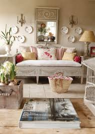 lovely fabrics and painted furniture living room den image
