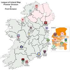 Map Of Dublin Ireland A Map Of All 20 League Of Ireland Teams Premier U0026 First Division