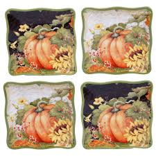 depot canape certified international botanical harvest canape plate set of 4