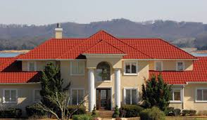 Red Roof In Pensacola by Stone Coated Metal Roofing Systems Metro Roofs