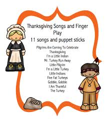 thanksgiving songs and finger play preschool printables