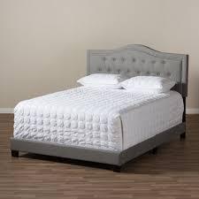 Baxton Studio Bed Baxton Studio Emerson Modern And Contemporary Light Grey Fabric