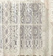 hopewell lace kitchen curtain 36 tier pr white