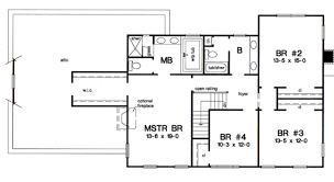 colonial style house plan 4 beds 2 50 baths 2616 sq ft plan 312 582