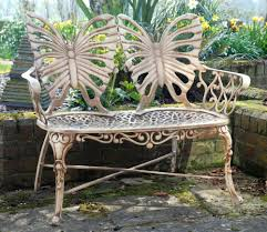 Butterfly Patio Furniture by Butterfly Metal Garden Bench Gardensite Co Uk