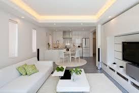 d馗oration cuisine ouverte design interieur déco cuisine ouverte sur salon canapé blanc palond