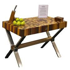 kitchen awesom simple wood style end grain butcher block table