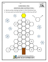 free christmas math worksheets first grade free worksheets library