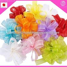 organdy ribbon great quality pull bow organdy ribbon flowers for gift wrapping