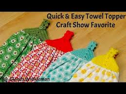pattern crochet towel holder how to crochet quick easy towel topper free pattern youtube