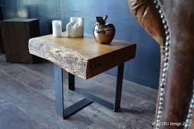 table d appoint pour canapé bout de canapé et meuble d appoint de style industriel micheli design