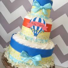 Home Made Baby Shower Decorations by Up Up And Away Diaper Cake Air Balloon Baby Shower