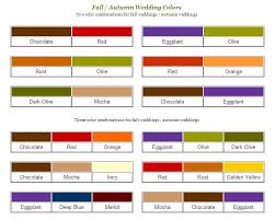 Autumn Color Schemes November Wedding Color Schemes Color Pallets For Fall Or Winter