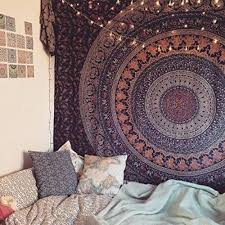 indian tie dye hippie mandala psychedelic wall hanging tapestry