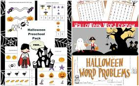 printable halloween pictures for preschoolers totally rad halloween printables for kids