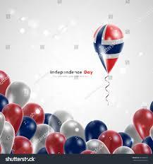 norwegian flag on balloon celebration gifts stock vector 265738910