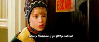 merry you filthy animal home alone animated gif