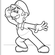 coloring pages mario funycoloring