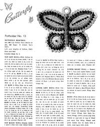 free vintage crochet pattern a butterfly potholder vintage