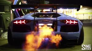 Porsche 918 Blue Flame - liberty walk aventador shooting flames sssupersports