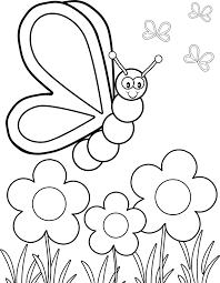 butterfly flew over the flower coloring pages printable coloring
