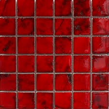 easy red mosaic bathroom tiles for minimalist interior home design