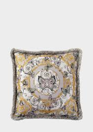 versace large le jardin silk cushion home collection uk online