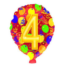 number balloons delivered 4 number 4 balloon flowers by post with free uk delivery