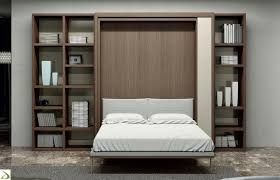 Murphy Bed Bookshelf Pull Down Bed Pretty Space Saving Guest Room Ideas With White