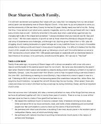 9 church resignation letter template free sample example