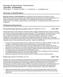 Sample Resume For Business Analyst by 22 Simple Business Resume Templates Free U0026 Premium Templates