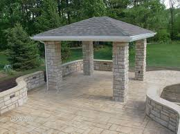 Backyard Concrete Patio by Stamped Concrete Patios In Columbus Oh Artistic Concrete Ohio