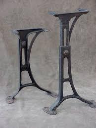 antique metal table legs vintage machine age industrial adjustable cast iron table legs