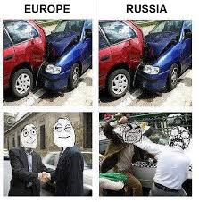 Russian Car Meme - europe vs russia car humor
