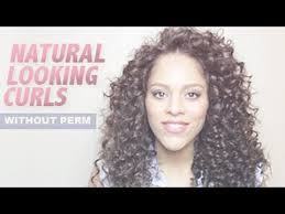 natural looking curls without perm youtube