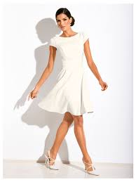 robe pour mariage civil robe plissée à manches courtes robes de soirée blanches soirées